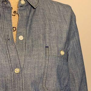 Button down light blue cotton shirt